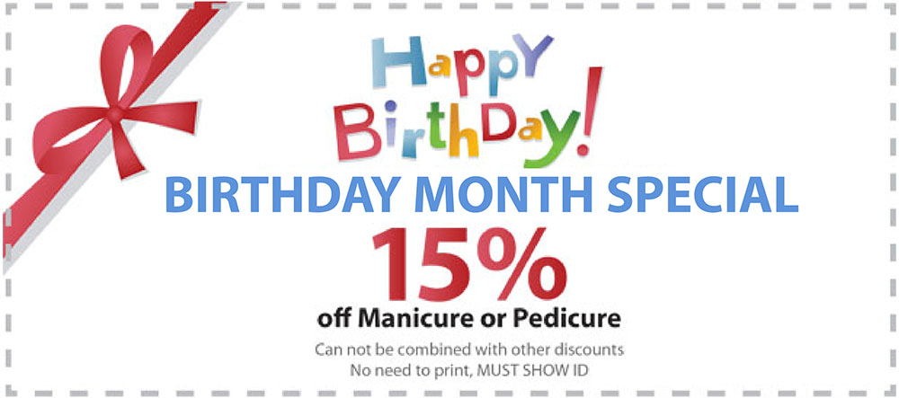 The special deals for the birthday customers.